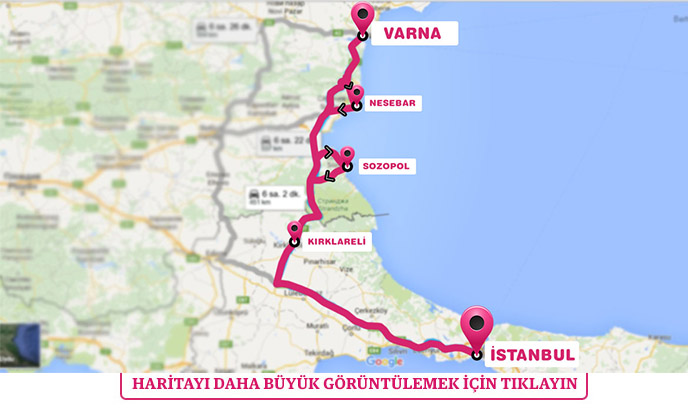 Varna Turu Haritası
