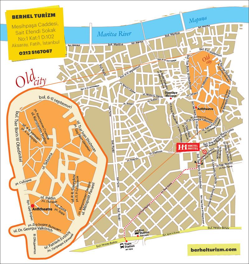 plovdiv şehir haritası